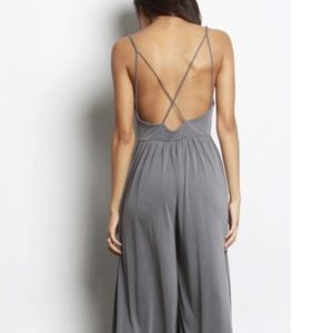 7e5998566ae Urban Outfitters Pants - Silence + Noise Molly Cupro Culotte Jumpsuit